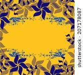 vector illustration flowers | Shutterstock .eps vector #207178087