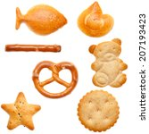 different shaped crackers and... | Shutterstock . vector #207193423