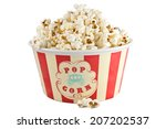 popcorn box isolated on a white ... | Shutterstock . vector #207202537