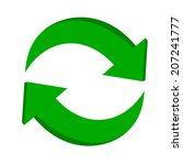 3d arrow recycling   Shutterstock .eps vector #207241777