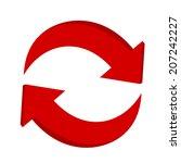3d arrow recycling | Shutterstock .eps vector #207242227