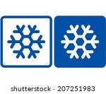 two blue abstract snowflake...   Shutterstock .eps vector #207251983