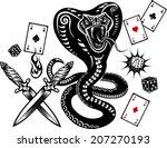 snake tattoo cobra | Shutterstock .eps vector #207270193