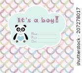baby boy arrival card. baby... | Shutterstock .eps vector #207278017