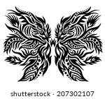 abstract tattoo butterfly