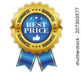 blue gold best price badge with ...