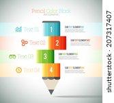 vector illustration of pencil... | Shutterstock .eps vector #207317407