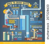 Water Per Day Infographics ...