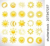 set of vector suns | Shutterstock .eps vector #207347257