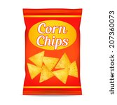 corn chips packet bag  isolated ...   Shutterstock . vector #207360073
