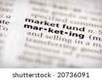 "Selective focus on the word ""marketing"". Many more word photos in my portfolio... - stock photo"