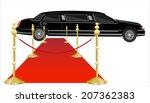 red carpet extending to a... | Shutterstock . vector #207362383