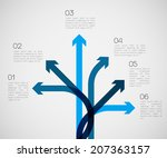 different way infographics  ... | Shutterstock .eps vector #207363157