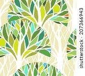 Vector Seamless Pattern. Green...