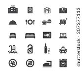 hotel icon set | Shutterstock .eps vector #207377113