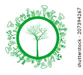 green eco earth  isolated on... | Shutterstock .eps vector #207394267