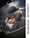 Briquettes In The Grill