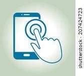 touch screen smartphone sign... | Shutterstock .eps vector #207424723
