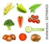 vegetables set  vector... | Shutterstock .eps vector #207436423