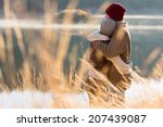back view of lovely young... | Shutterstock . vector #207439087
