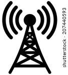 broadcast tower   Shutterstock .eps vector #207440593