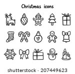 winter holidays cute vector... | Shutterstock .eps vector #207449623