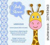 Cute Blue Baby Boy Shower Card...