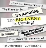 big event is coming and other... | Shutterstock . vector #207486643