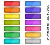 web buttons set | Shutterstock .eps vector #207501403