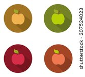 flat color icons apples. ui...