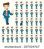 Set of businessman characters poses , eps10 vector format | Shutterstock vector #207524767