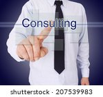 Businessman Pressing Button...