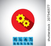flat design icon of gears or...