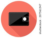 wallet icon. flat design style...   Shutterstock .eps vector #207561547