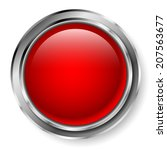 red button with metallic frame | Shutterstock .eps vector #207563677