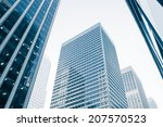 view of modern blue colored... | Shutterstock . vector #207570523