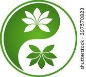 floral yin yang series   Shutterstock .eps vector #207570823