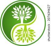 tree yin yang | Shutterstock .eps vector #207634627