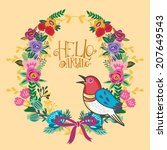 beautiful greeting card of ... | Shutterstock .eps vector #207649543
