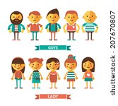 set of characters.flat picture. | Shutterstock .eps vector #207670807