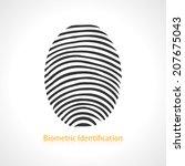 fingerprint scan icon. vector...
