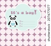 baby boy arrival card. baby... | Shutterstock .eps vector #207677077