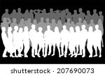 group of people | Shutterstock .eps vector #207690073