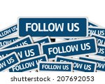 follow us written on multiple... | Shutterstock . vector #207692053