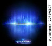 vector digital equalizer with... | Shutterstock .eps vector #207696877