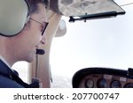 Pilot In Small Plane