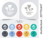 8 march women's day sign icon.... | Shutterstock .eps vector #207701647