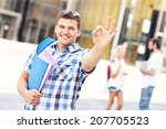 a picture of a young student... | Shutterstock . vector #207705523