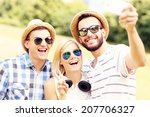 a picture of a group of friends ...   Shutterstock . vector #207706327