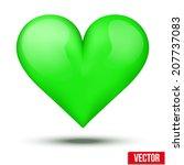 Beautiful Realistic Green Hear...